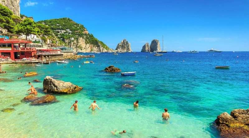 Beautiful Capri Island in Southern Italy